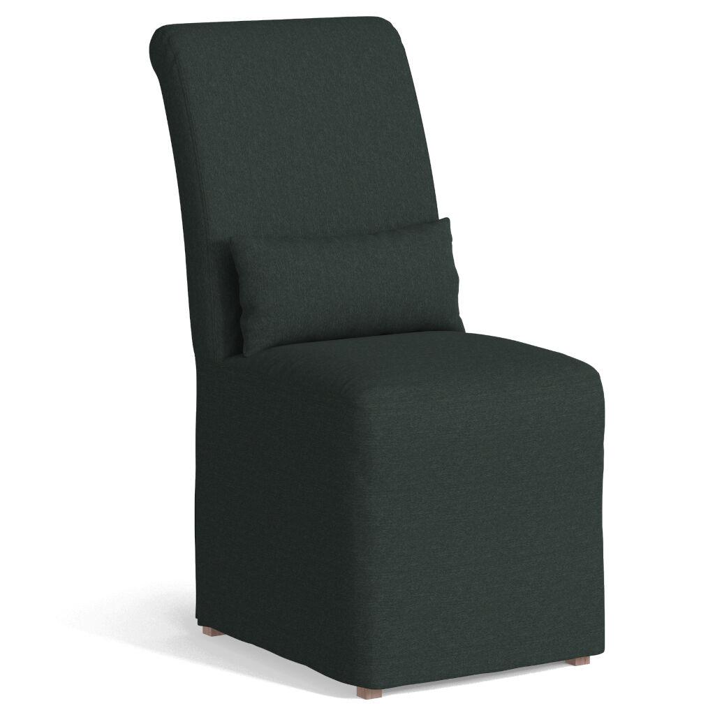 Sunset Trading SY-1025906-391098 Newport Slipcovered Dining Chair, Dark Gray