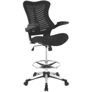Modway Furniture Modway EEI-2286-BLK 42 H x 27.5 W x 26.5 L in. Charge Drafting Chair, Black