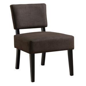 Clean Choice Accent Chair, Dark Brown Fabric