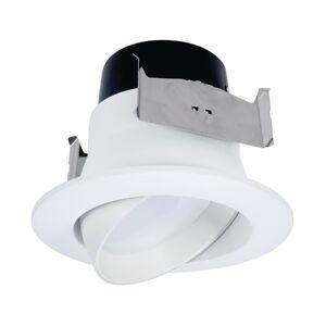 Halo 3008730 4 in. 8.6W LA4 Series LED Adjustable Retrofit Kit - Matte Warm White
