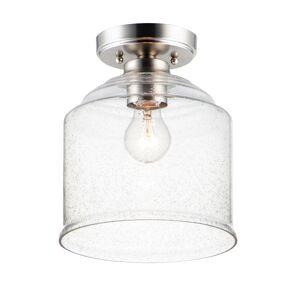 Maxim 12270CDSN 9 in. Acadia 1 Light Satin Nickel Semi-Flush Mount Ceiling Light