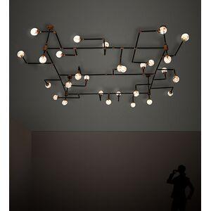 Meyda 202059 160 in. PipeDream 28 Light Chandelier - Gold, Black & Clear