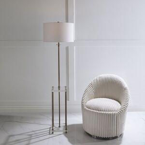 212 Main 28415 Palladian Antique Brass Floor Lamp