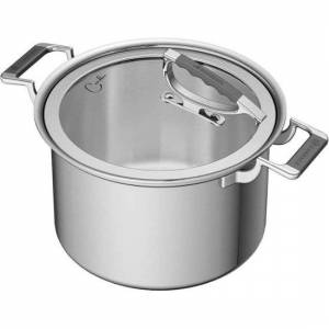 CookCraft CCB-4001-8QT Stainless Steel Stock Pot with Glass Lid