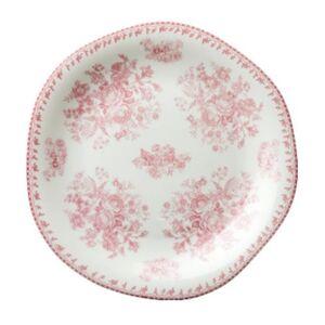 Oneida L6703052132 8 in. dia. Lancaster Garden Pink Porcelain Plate