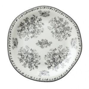 Oneida L6703068119 6.5 in. Lancaster Garden Grey Porcelain Plate