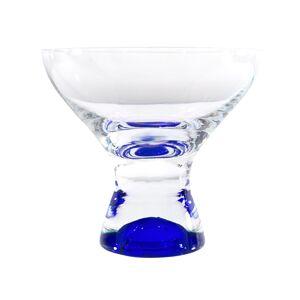 Red Vanilla 40428-330B 330 ml Samba Colors Martini & Dessert Glass, Clear & Blue - Set of 6