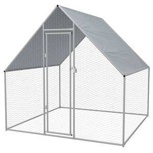 OnlineGymShop CB20317 Galvanized Steel Outdoor Chicken Cage