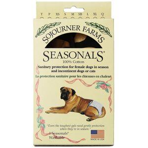 Seasonals 41112ZBR Washable Female Dog Diaper, Zebra - Medium