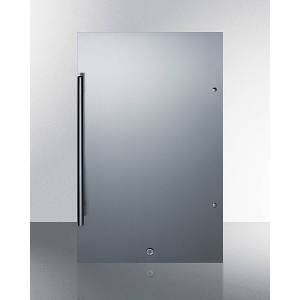 Summit Appliance SPR196OSCSS Shallow Depth Outdoor Built-In All-Refrigerator with Stainless Steel