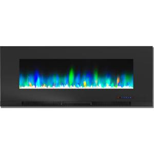 Cambridge CAM50WMEF-1BLK 50 in. Color Changing Wall Mount Electric Fireplace, Black