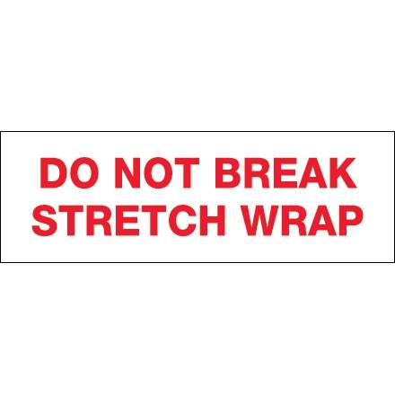 BOX Partners LLC Tape Logic T901P086PK 2 in. x 55 yards - Do Not Break Stretch Wrap Pre-Printed Carton Sealing Tape, Red & White - Pack of 6