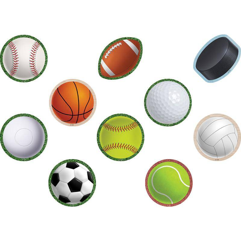 Teacher Created Resources TCR8499-6 Sports Mini Accents - 6 per Pack