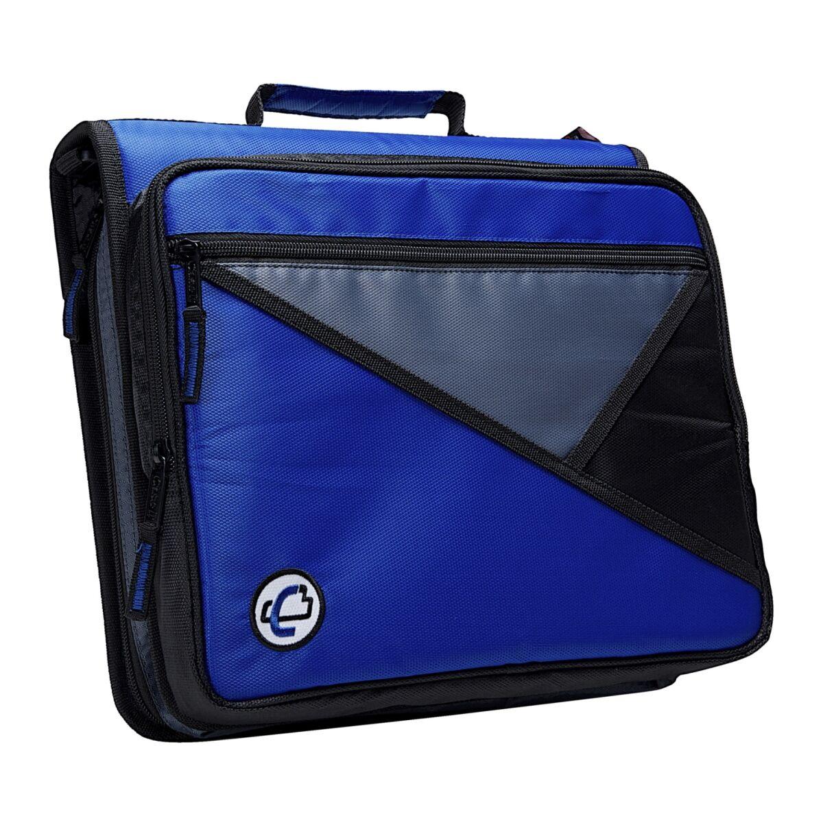 WorkstationPro Universal Laptop Zipper Binder, O-Ring, 2 in. - Blue