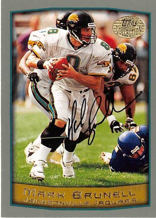 Autograph Warehouse 443922 Jacksonville Jaguars 1998 Topps 75 Collection Edition Mark Brunell Autographed Football Card