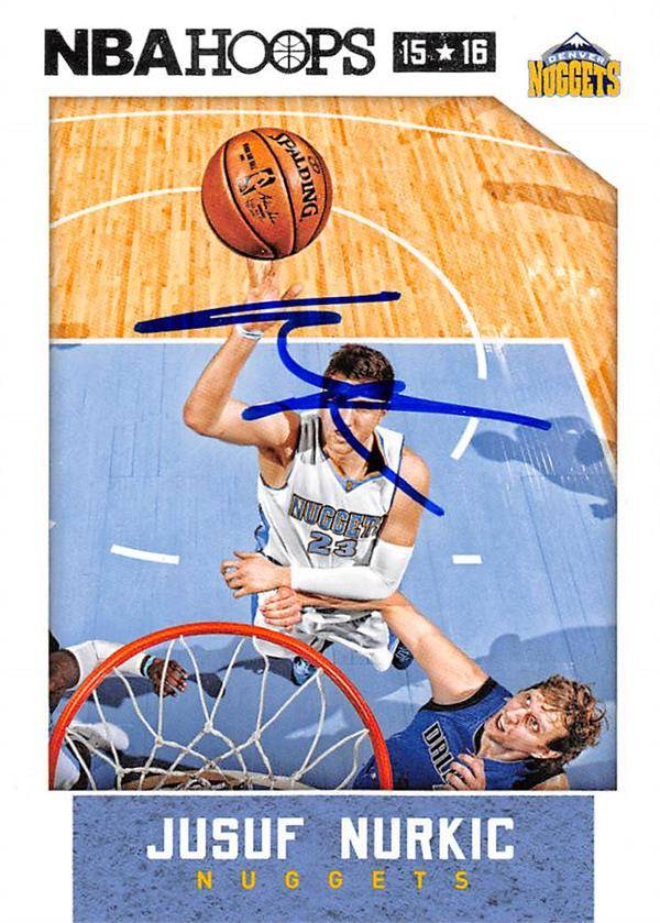 Autograph Warehouse 444480 Denver Nuggets 2015 Panini Hoops 32 Jusuf Nurkic Autographed Basketball Card