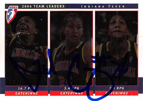 Autograph Warehouse 444566 Indiana Fever 2005 WNBA Enterprises Team Leaders TL5 Tamika Catchings Autographed Basketball Card