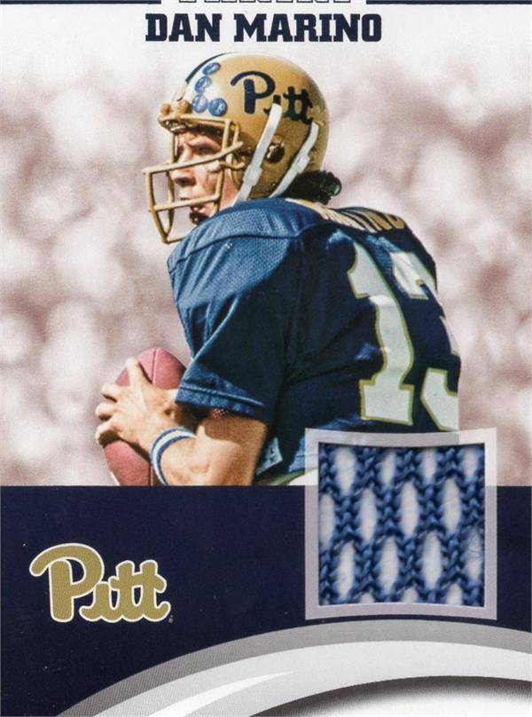 Autograph Warehouse 653836 Dan Marino Player Worn Jersey Patch Football Card - Pittsburgh Panthers - 2016 Panini Team Collection No.DMPIT