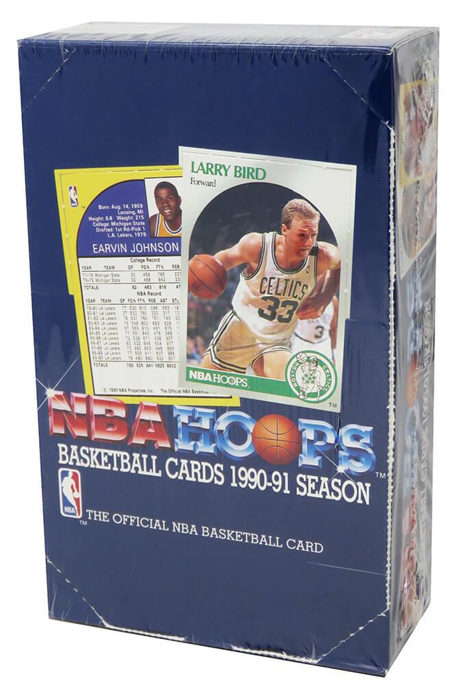 Schwartz Sports Memorabilia BX290HWE1 1990-1991 Hoops Series 1 Basketball Factory Sealed Unopened Box - Pack of 36