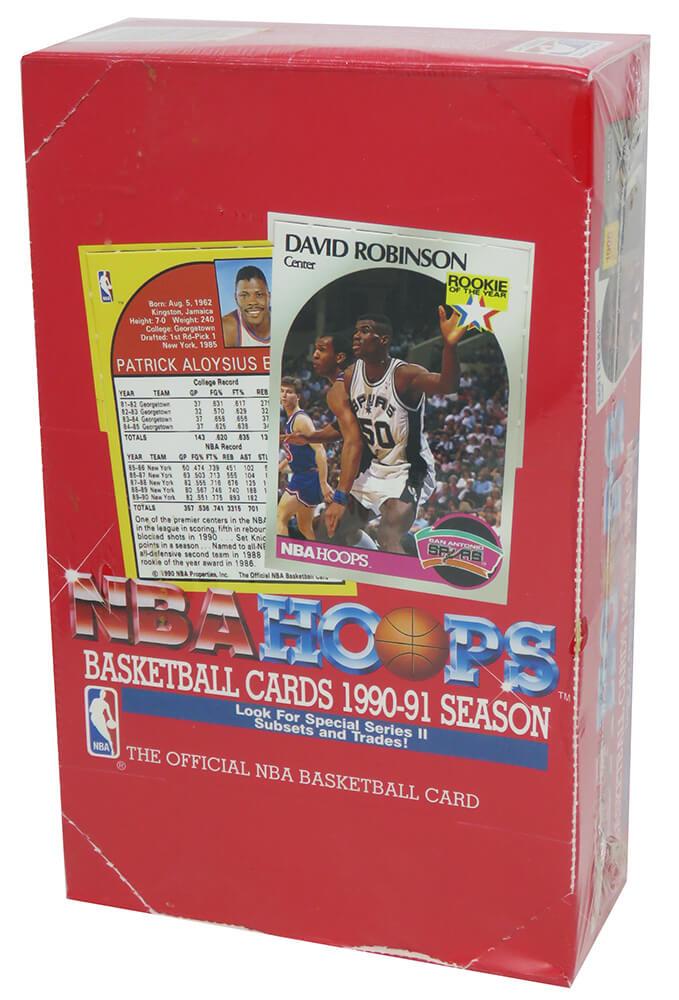 Schwartz Sports Memorabilia BX290HWE2 1990-1991 Hoops Series 2 Basketball Factory Sealed Unopened Box - Pack of 36