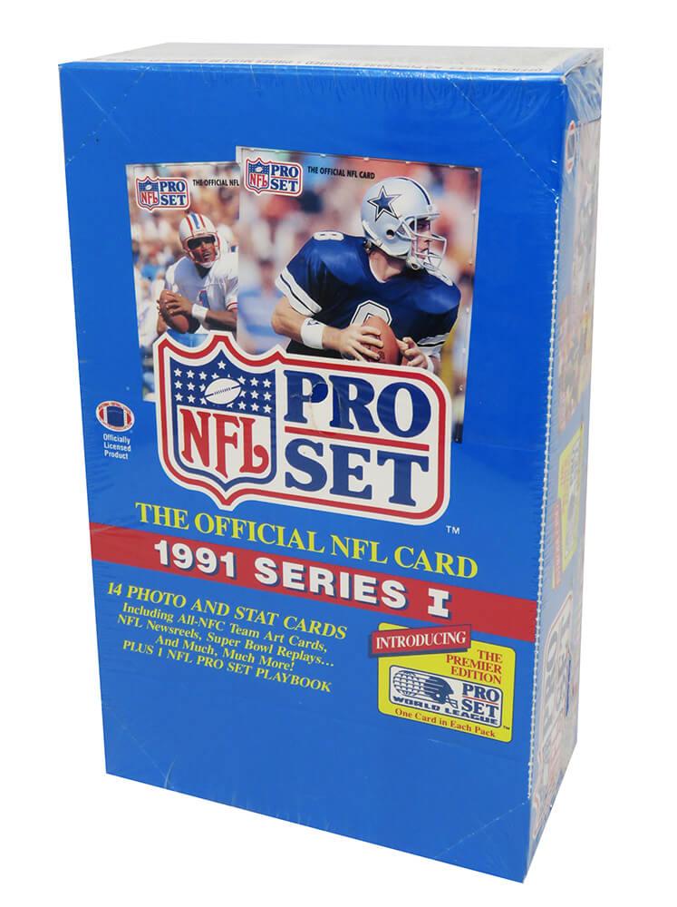 Schwartz Sports Memorabilia BX391PWF1 1991 Pro Set Football Series 1 Unopened Factory Sealed Wax Box - Pack of 36