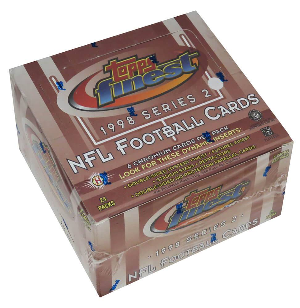 Schwartz Sports Memorabilia BX398FHF2 1998 Topps Finest Series 2 Football Unopened Factory Sealed Hobby Box - Pack of 24