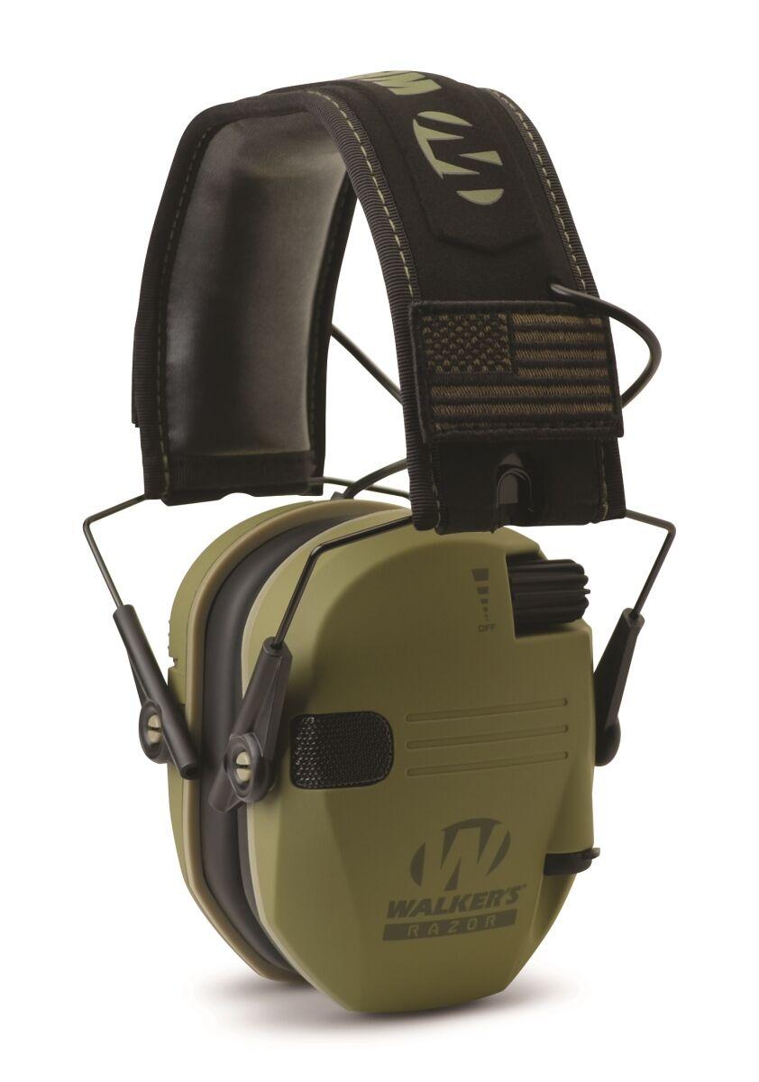 Walker's Game Ear Walkers Game Ear WGE-GWP-RSEMPAT-ODG Razor Patriot Electronic Earmuffs, Dark Green