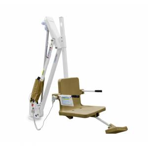 Aqua Creek Products F-MTY600-T 600 lbs Mighty 600 Lift without Anchor, White with Tan Seat