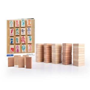 Guidecraft G6223 All About Me Block Play People Set - 50 Piece