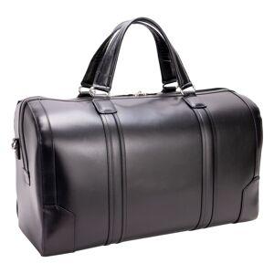 McKleinUSA Mcklein 88195 20 in. Kinzie Carry-All Leather Duffel, Black