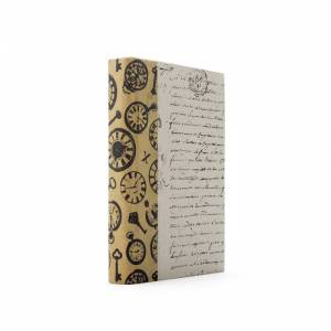 Go Home MG31836 12 x 12 x 6 in. Single Time Texture Sepia Book