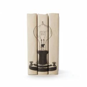Go Home MGS40 8 x 6 x 3 D in. Edison Bulb Books - Set of 3