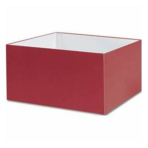 """Red Gift Box Bases, 10 x 10 x 5 1/2"""""""