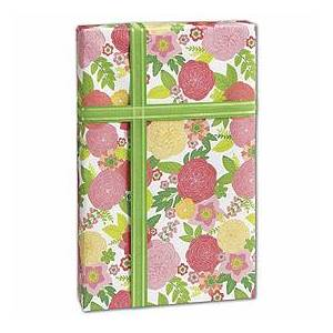 """Rose Floral Gift Wrap, 24"""" x 417'"""