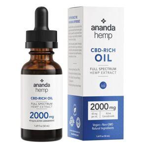 Ananda Hemp Full Spectrum 2000mg CBD Oil 50ml