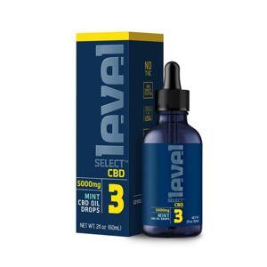 Level Select CBD Tincture Oil Drops - Mint 60ml