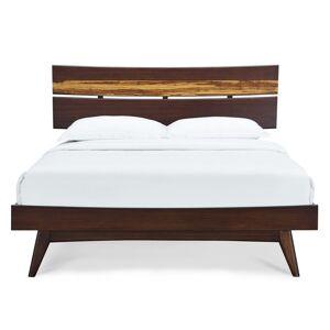 "Greenington Azara King Platform Bed by Greenington / Caramelized / 5"" h x 88"" w x 81"" d"