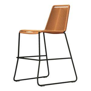 Modloft Barclay Counter Stool by Modloft / Orange / Steel/Polyester
