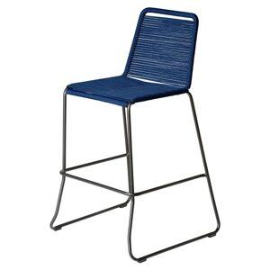 Modloft Barclay Barstool by Modloft / Blue / Steel/Polyester