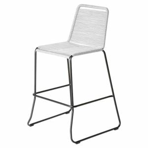 Modloft Barclay Barstool by Modloft / White / Steel/Polyester
