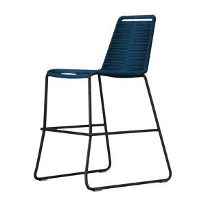 Modloft Barclay Counter Stool by Modloft / Blue / Steel/Polyester