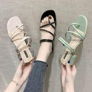 Strappy Low-Heel Sandals