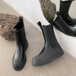 Anran Platform Short Chelsea Boots