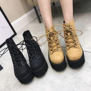 Anran Platform Lace Up Short Boots