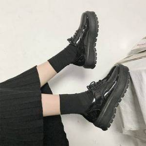 Moonwalk Lace-Up Platform Shoes