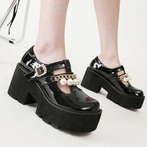 Anran Platform Mary Jane Shoes