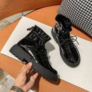 Anran Lace-Up Platform Short Boots
