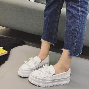 Anran Fringed Platform Loafers