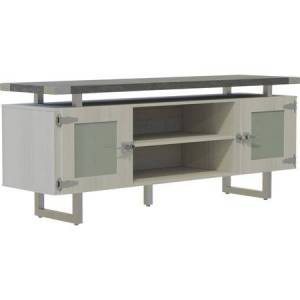 Safco Mirella Low Wall Cabinet with Glass Doors