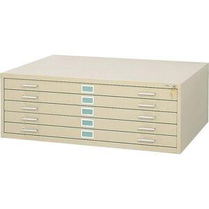 Safco 5-Drawer Steel Flat Files & Base